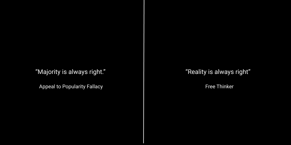 Appeal to popularity versus free