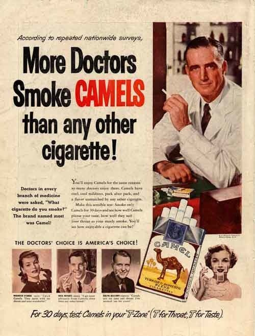 Appeal to Authority: Camels Ad